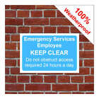 Emergency service worker keep clear sign 3202 durable weatherproof signs