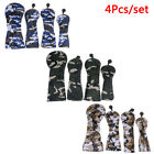 Golf Wood Head Covers for Driver Fairway Hybrid Camouflage Cover Set 4Pcs/set B^