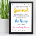 Personalised Baby Shower Guest Book Table Sign Message Advice Guest Book Sign