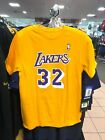Youth Los Angeles Lakers Magic Johnson Adidas Yellow Jersey T-Shirt on eBay