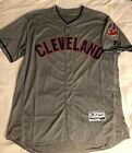 Men's Cleveland Indians Jersey #12 Lindor Road Gray 2018 w/ Wahoo stitched flex on Ebay