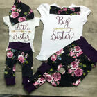 Kyпить USA Sister Match Big Little Sister Girl T-shirt Romper Top+ Pants Outfit Clothes на еВаy.соm
