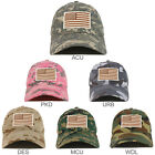 Desert American Flag Embroidered Patch Camo Soft Crown Baseball Cap - FREE SHIP