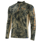 60% Off HUK ICON X CAMO 1/4 Zip LS Fishing Shirt--Pick Color/Size-Free Ship
