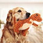 Tough Dinosaur Pet Dog Puppy Chew Knot Play Squeaker Squeaky Plush Sound Toys S3