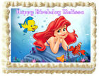 Ariel THE LITTLE MERMAID Edible cake topper image