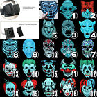 Sound Reactive LED Light Up Activated Halloween Mask Street Dance Rave EDM Plur