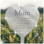 PERSONALISED Robin Angel Heart Graveside Memorial Decoration for Mum Dad Nanny