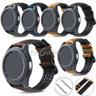 Genuine Leather & Silicone Watch Band Strap For Samsung Gear S3 Frontier Classic image