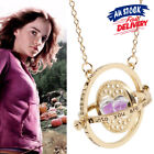 Harry Potter Hermione Granger Gold Tone Hourglass Necklace Time Turner Pendant