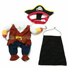 Pet Dog Cat Costume Clothes Cool Pirate Party Halloween Costumes Jacket Dress US