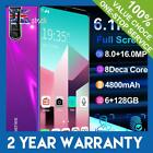 X27 6.3'' Smart Phone Hd Face Mobile Android 9.0 Octa Core Dual Sim 8+16mp Uk