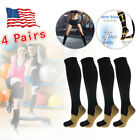 Kyпить 4 Pairs Copper Fit Energy Knee High Compression Socks, SM L/XL XXL Free Ship USA на еВаy.соm