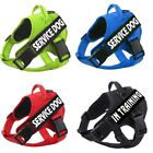 No-Pull Service Dog Harness Pet Traning Outdoor Puppy Reflective Vest & Patches