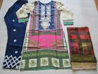 Khaadi  Linen  Embroidered stitched Pakistani  salwar kameez to clear now £25