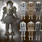 Halloween Clown Cosplay Costume per Pennywise Stephen King IT Pagliaccio Vestito