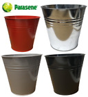 PARASENE 14L METAL STEEL BUCKET BEDROOM KITCHEN OFFICE RUBBISH WASTE TRASH BIN, used for sale  Shipping to Ireland