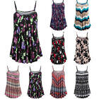 Women Summer Plus Size Printed Sleeveless Vest Blouse Tank Tops Camis Clothes