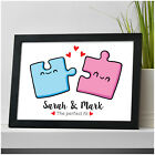 PERSONALISED Puzzle Piece Gifts for Couples Girlfriend Wife Boyfriend Christmas