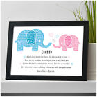 PERSONALISED Daddy and Daughter Birthday Gifts from Little Girl Dad Grandad
