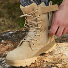 Men High Top Combat Army Boots Tactical Safety Desert Military Work Shoes Hiking
