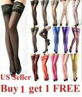 Hot Lady's Lace Top Stay Up Thigh-High Stockings Woman Pantyhose Socks US Seller