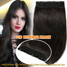 100% Remy Clip in Human Hair Extensions 3/4Full Head 1 Piece 14*-24* Straight UK