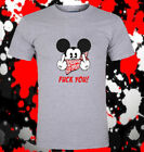 Hot Mickey Mouse Thug Life Gangster Middle Finger Unisex T-shirt