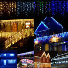 Twinkle LED Light Icicle Curtain Christmas Garland New Year String Lamp Holiday