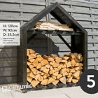 WOODEN LOG STORE RACK SHED OUTDOOR GARDEN WOOD STORAGE FOR LOGS 6 STYLES / SIZES