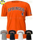 Houston Astros George Springer 4 Jersey Tee T Shirt Men Size S-5XL on Ebay