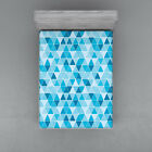Geometric Fitted Sheet Cover with All-Round Elastic Pocket in 4 Sizes