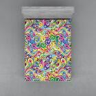 Hand Drawn Fitted Sheet Cover with All-Round Elastic Pocket in 4 Sizes image