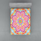 Rainbow Mandala Fitted Sheet Cover with All-Round Elastic Pocket in 4 Sizes