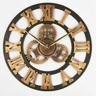 Wall Clocks Big Gear Wooden Vintage Oversized 3D Retro Rustic Decorative Luxury