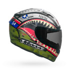 BELL Qualifier DLX MIPS Equipped Devil May Care Street Helmet GREEN SILVER