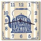 Home Sweet Home Teakettle Themed Kitchen Wall Clock from Redeye Laserworks