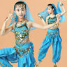 Egyptian Belly Dancing Costume Child Girls Oriental Performance Wear Party Set O