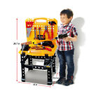 Kids Power Tool Toddler Toy Bench Construction Set With Tools And Electric Drill