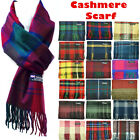 Womens Mens 100 Cashmere Striped Wool Wrap Scarf Scotland Made Plaid Scarves
