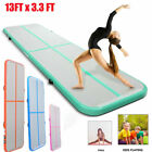 13FT Airtrack Inflatable Air Track Floor Home Gymnastics Tumbling Mat GYM HX image