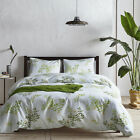 US 3Pcs Duvet Cover Twin Queen King Size Green Tree Leaf Bedding Set+Pillow Case image