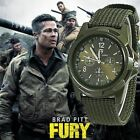 Men Watch Nylon Military Quartz Watches Fabric Canvas Strap Casual Wristwatch image