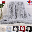 Faux Fur Blanket Long Pile Throw Sofa Bed Super Soft Warm Shaggy Cover Luxury US image