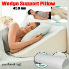 Extra Large Bed Wedge Raised Pillow Acid Reflux Memory Foam Back Improve Sleep image