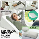 "26""Large Bed Wedge Pillow Leg Elevated Back Support Cushion Acid Reflux Sleeping image"