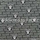 Oakland Raiders Fabric by the Yard, Half Yard, NFL Cotton, Mini Print $5.25 USD on eBay