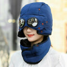 Thermal Winter Trapper Hat with Glasses Autumn Winter Cycling Windproof Cap New