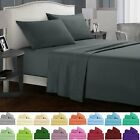 Soft Bed Sheets Set 3/4 Piece Deep Pocket Fitted Flat Queen King Full Twin Size image