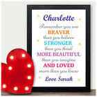 PERSONALISED You Are Braver Stronger Christmas Gifts for Mum Daughter Sister Her